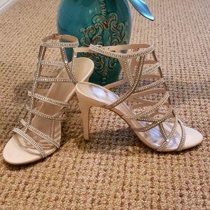 Sexy strappy rhinestone heels Size 7.5